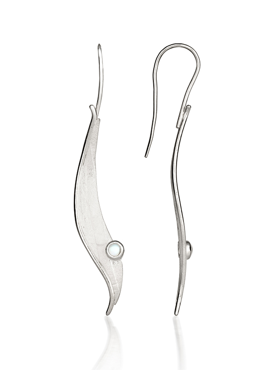 Fiona Kerr Jewellery/Morning Dew Silver Drop Earrings-MD02