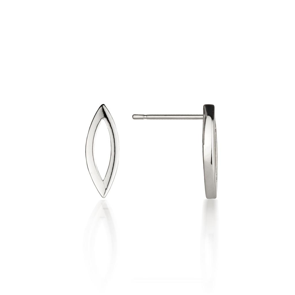 Silver Swing Time Stud Earrings