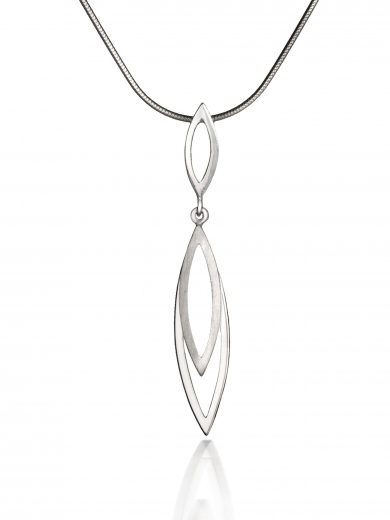 Silver Swing Time Short Drop Pendant