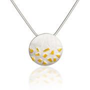 Fiona Kerr Jewellery / Confetti Silver & Gold small pendant – GRD02