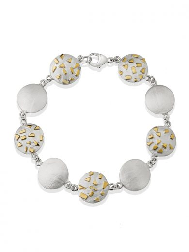 Fiona Kerr Jewellery / Silver & Gold Confetti Round bracelet - GRD07