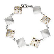 Fiona Kerr Jewellery / Silver & Gold Confetti Square bracelet – GSQ07