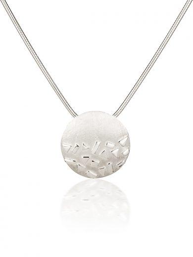 Fiona Kerr Jewellery / Silver Confetti Large Round Pendant- SRD01