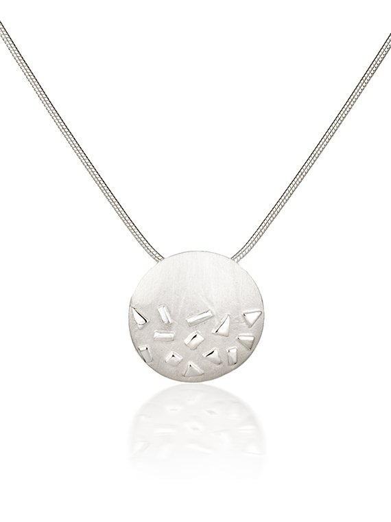 Fiona Kerr Jewellery / Silver Confetti Small Round Pendant- SRD02