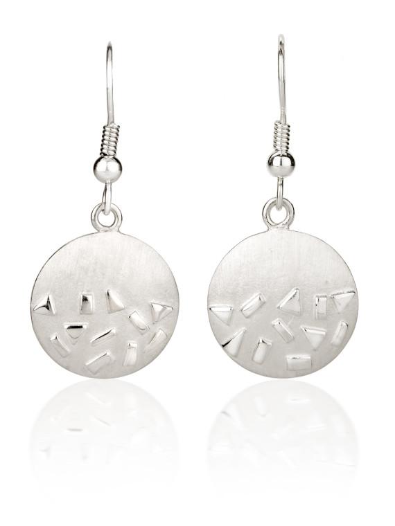 Fiona Kerr Jewellery / Silver Confetti Drop Earrings - SRD04