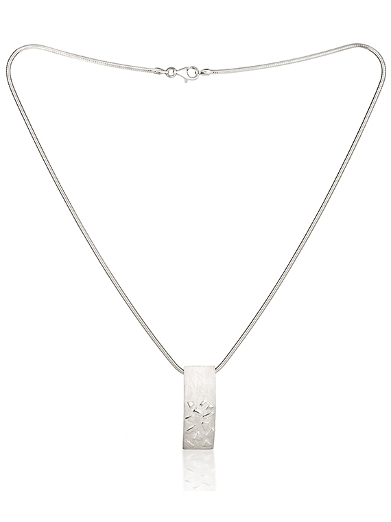 Fiona Kerr Jewellery / Silver Confetti Rectangle Pendant - SRE01