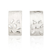 Fiona Kerr Jewellery / Silver Confetti Rectangle Stud Earrings - SRE03