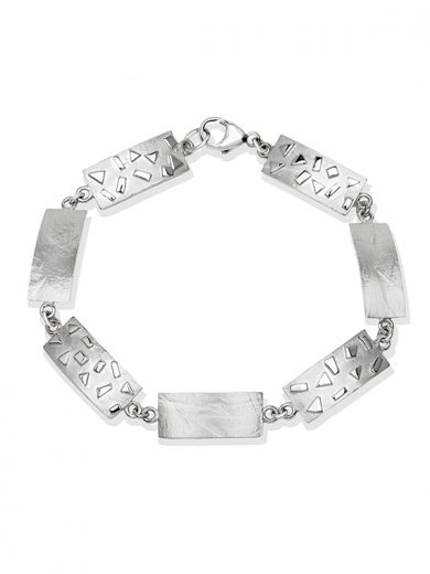 Fiona Kerr Jewellery / Silver Confetti Rectangle Bracelet - SRE07