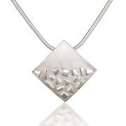 Fiona Kerr Jewellery / Silver Confetti Square Pendant – SSQ01