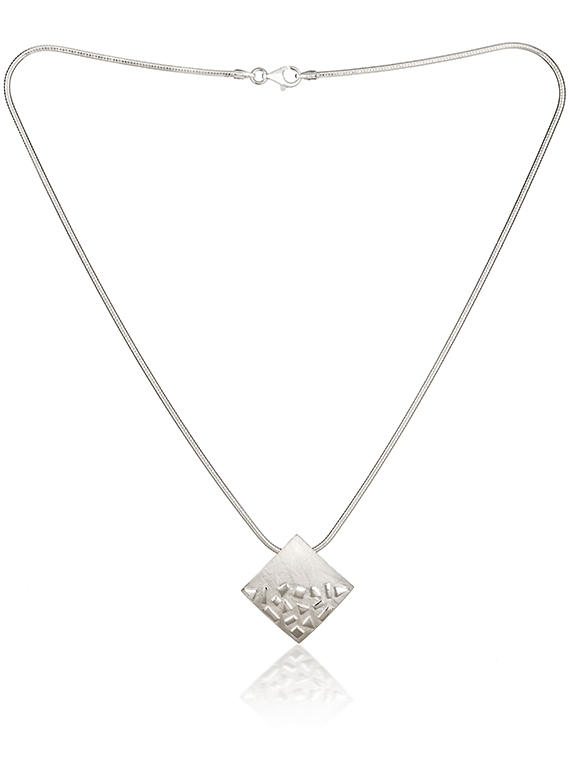 Fiona Kerr Jewellery / Silver Confetti Square Pendant - SSQ01