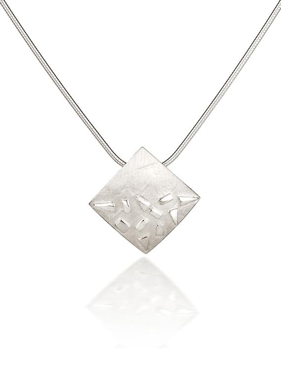 Fiona Kerr Jewellery / Silver Confetti Square Pendant - SSQ02