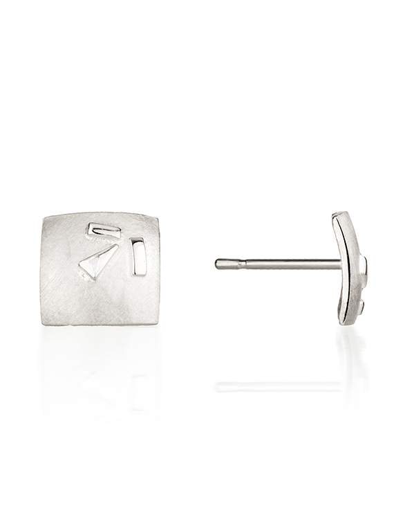 Fiona Kerr Jewellery / Silver Confetti Square Stud Earrings - SSQ03