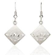 Fiona Kerr Jewellery / Silver Confetti Square Drop Earrings - SSQ04