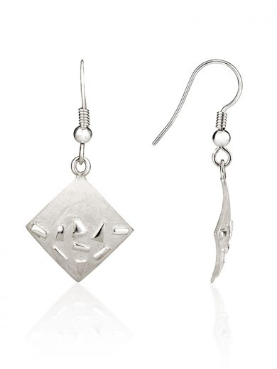 Fiona Kerr Jewellery / Silver Confetti Square Drop Earrings - SSQ04