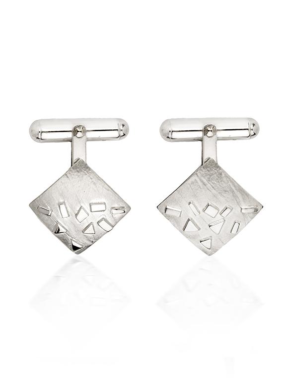 Fiona Kerr Jewellery / Silver Confetti Square Cufflinks - SSQ06