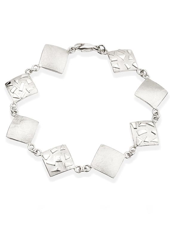 Fiona Kerr Jewellery / Silver Confetti Square Bracelet - SSQ07