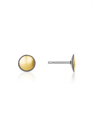 Fiona Kerr Jewellery / Black & Gold Small Stud Earrings - BG03