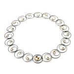 Fiona Kerr Jewellery / Black & Gold Necklace- BG13