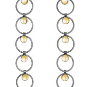 Fiona Kerr Jewellery / Black & Gold Long Drop Earrings – BG16