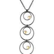 Fiona Kerr Jewellery / Black & Gold Multi Drop Pendant – BG18