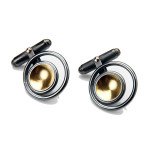 Fiona Kerr Jewellery / Black & Gold Cufflinks – BG20
