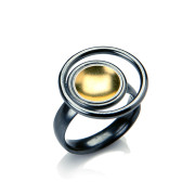 Fiona Kerr Jewellery / Black & Gold Small Ring – BG22