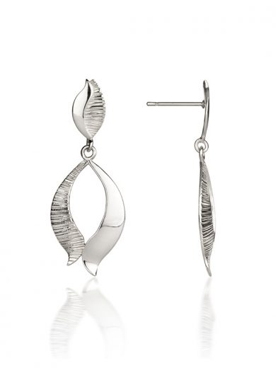 Fiona Kerr Jewellery / Ebb and Flow Silver Drop Earrings - EF02