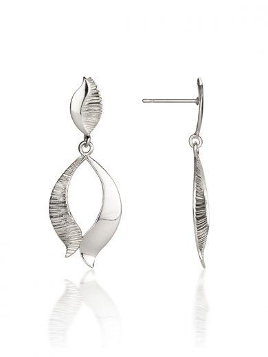 Fiona Kerr Jewellery / Ebb and Flow Silver Drop Earrings - EF02