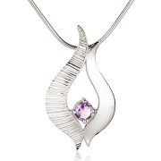 Fiona Kerr Jewellery / Ebb and Flow Silver medium pendant with Amethyst – EF04A