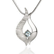Fiona Kerr Jewellery / Ebb and Flow Silver pendant with Blue Topaz – EF04B