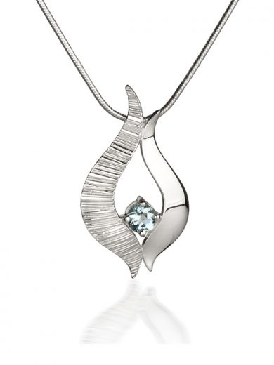 Ebb and Flow Silver pendant with Blue Topaz - EF04B