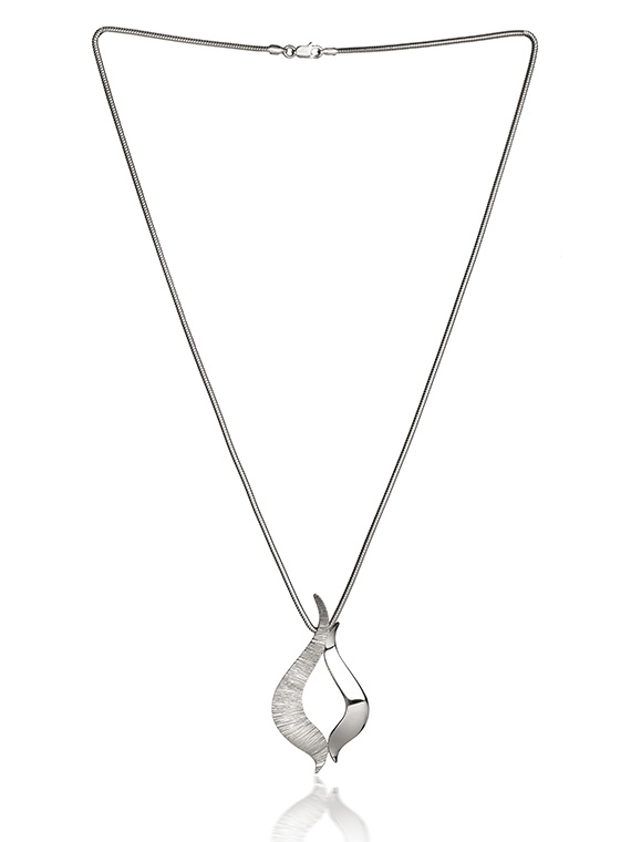 Fiona Kerr Jewellery / Ebb and Flow Large Silver Pendant - EF07