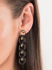 Fiona Kerr Jewellery / Black & Gold Multi Drop Earrings - BG16