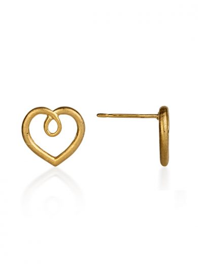 Fiona Kerr Jewellery / Hearts Gold Plated heart stud earrings - GHH01