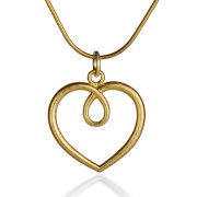Fiona Kerr Jewellery / Hearts Large Gold plated heart Pendant- GHH04