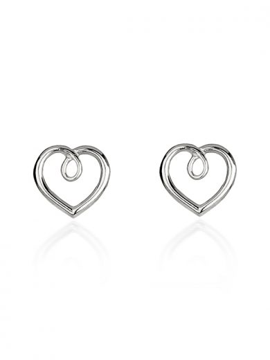 Fiona Kerr Jewellery | Silver Heart Stud Earrings