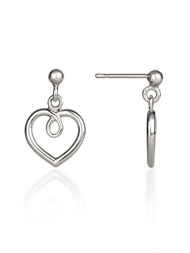 Fiona Kerr Jewellery / Hearts Silver drop earrings - HH02