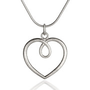 Fiona Kerr Jewellery / Hearts Large Frosted silver heart Pendant- HH04F