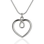 Fiona Kerr Jewellery / Hearts Large Polished silver heart Pendant- HH04