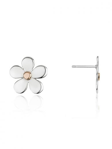 Fiona Kerr Jewellery | Daisy Chain Silver & Rose Gold Stud Earrings - DC02
