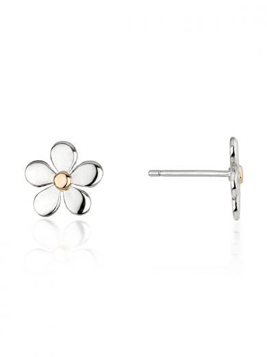 Fiona Kerr Jewellery | Daisy Chain Small Silver & Rose Gold Stud Earrings
