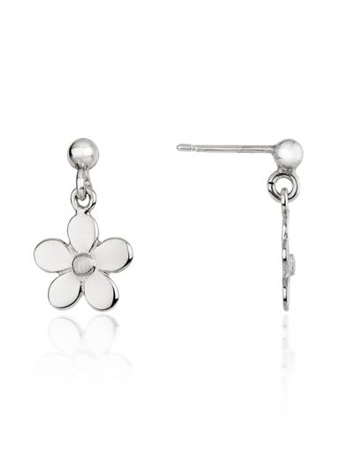 Fiona Kerr Jewellery | Daisy Chain Small Silver Daisy Drop Earrings