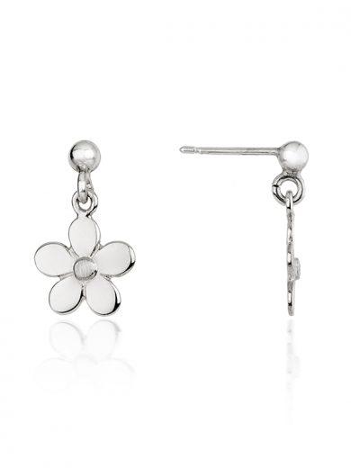 Fiona Kerr Jewellery   Daisy Chain Small Silver Daisy Drop Earrings