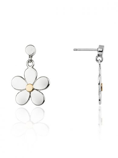 Fiona Kerr Jewellery | Daisy Chain Silver & Rose Gold Daisy Drop Earrings