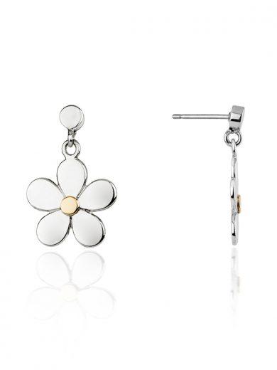 Fiona Kerr Jewellery   Daisy Chain Silver & Rose Gold Daisy Drop Earrings