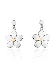 Fiona Kerr Jewellery | Daisy Chain Silver and Rose Gold Drop Earrings – DC05