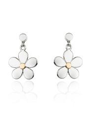 Fiona Kerr Jewellery | Daisy Chain Silver & Rose Gold Daisy Drop Earrings