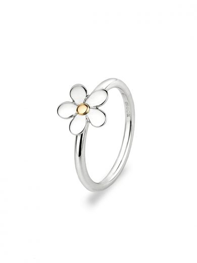 Fiona Kerr Jewellery | Daisy Chain Small Silver and Rose Gold Ring - DC26s