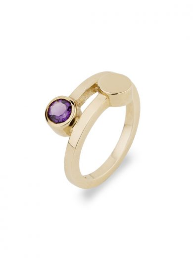 Fiona Kerr Jewellery | 9ct Yellow Gold Ring with Amethyst