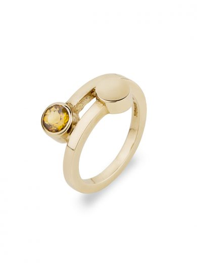 Fiona Kerr Jewellery | 9ct Yellow Gold Ring with Citrine